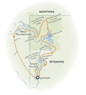 Yellowstone and Tetons Wyoming Map